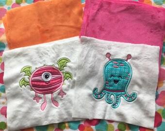 NEW! Little Lady Monster Minky Blanket or Kit