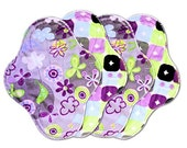 "9.5"" Medium Flow Reusable Cloth Pad Set of Four ~ Serendipity and Anethyst Minky ~ by Talulah Bean"