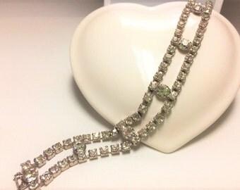 Vintage Garne Jewelry Rhinestone Bracelet