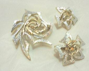 Sarah Coventry Spiral Pin and Clip Earrings - Vintage