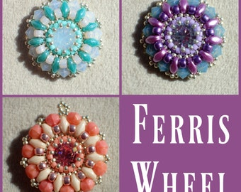 Ferris Wheel Pendant PDF Jewelry Making Tutorial (INSTANT DOWNLOAD)