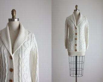 1970s cotton shawl cardigan