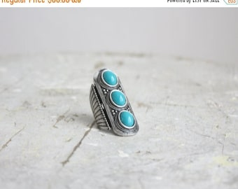 25% SALE turquoise stacked ring