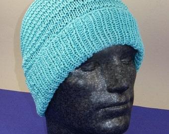 HALF PRICE SALE Instant Digital File Pdf Download Knitting pattern - Simple Stripey Spring Beanie hat knitting pattern