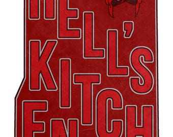 HELL'S KITCHEN DAREDEVIL map Marvel Comics New York City print (multiple sizes)