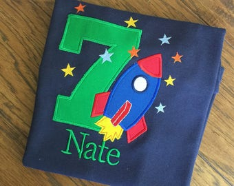 Boys Birthday Rocket, Rocket shirt, Boys Space Themed Birthday,Rocket Ship Birthday,