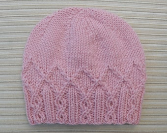 "Knitting Patern Hat ""Adeline"" #222"