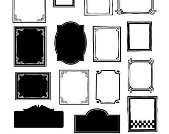 Frame and Border SVG Files, Frame Cuttable SVG, Decorative Frame SVG, Svg, Eps, Gsd, Ai, Vinyl Cut Files for Silhouette, Cricut, and more