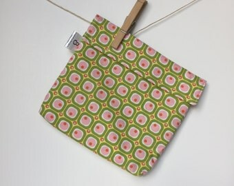 Reusable eco friendly washable Sandwich Bag - pink green yellow