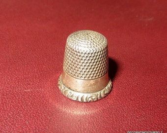 Antique Sterling Ketcham & McDougall Thimble Size 5 Craft Sew Quilt