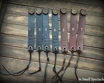 Vintage Button Leather Strap Bracelet
