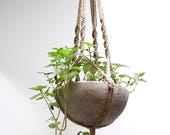 JUTE PLANT HANGER Eco Friendly Small Hanger Natural Indoor Outdoor Home & Garden—Wedding Registry Housewarming—Suspension de Plante/Macetero