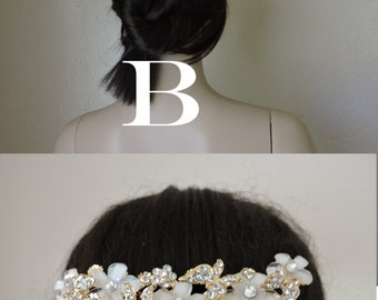 Add Rhinestone Comb to Veil