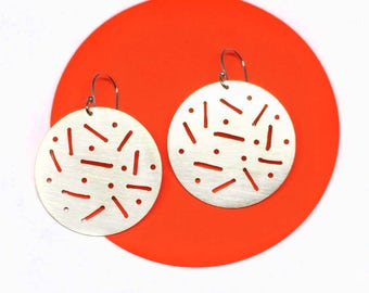 Dot Dash Sterling Silver Earring