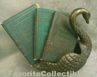 Little Leather Library Edgar Allen Poe Collector Set 3 Antique Volumes Mini 20s Classics Redcroft Edition Green Covers FavoriteCollectibles