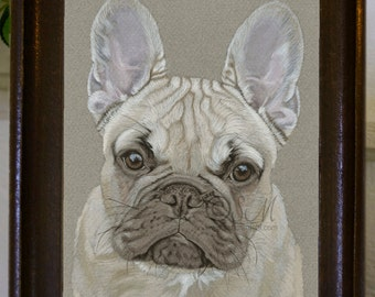 French Bulldog Original Painting, Frenchie, Dog Owner, New Puppy, House Warming