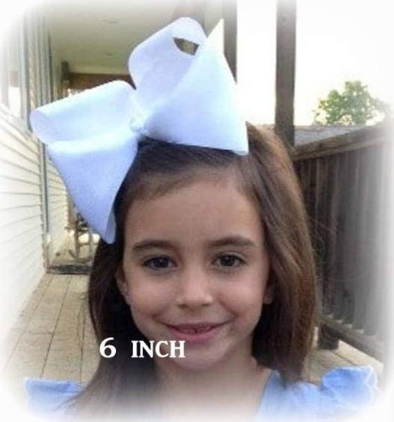Big Bows, Jumbo Hair Bow, Pick 3, Lot Set of 3, Southern Style Bow, 6 7 or 8 Inch Bows, Texas Sized Bows, Girls Jumbo Bows, X-tra Large, SSB