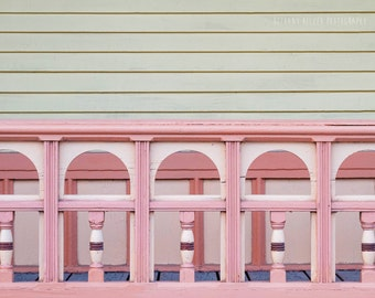 Architecture Photography Pink Art Pink Decor Old House Print Victorian House Vermont Art New England Montpelier Abstract Photography Pastel