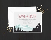 The 'Gemma' Rustic Mountain Save the Date Announcement