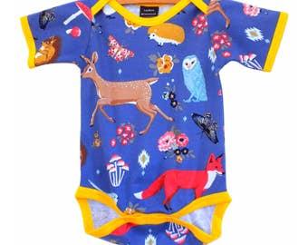 Vintage / Handmade / Bodysuit / baby clothes - Twilight Forest