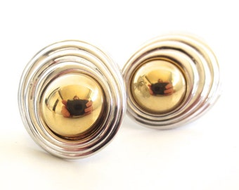 Vintage 80's Avon // KJL Kenneth Jay Lane Modern Silhouette Clip Earrings