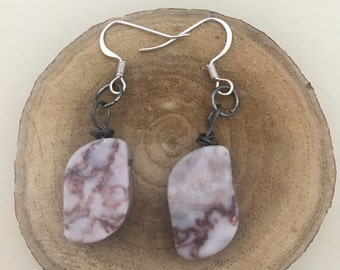 Agate Stone Dangle Drop Earrings