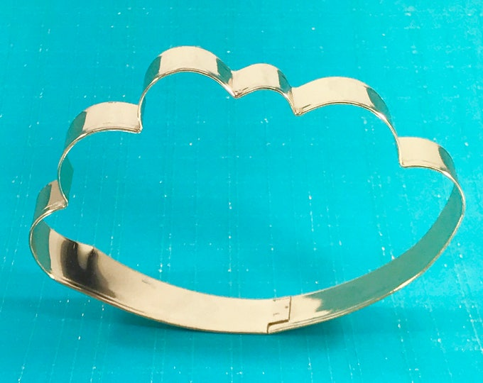 HAPPY CLOUD, Metal Cookie Cutter, GOLD! :)