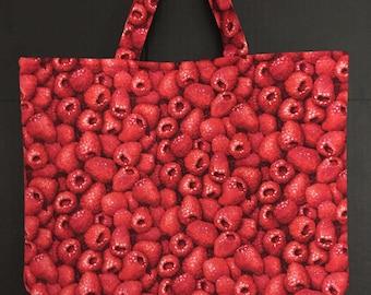 Raspberry Market Bag/Tote Bag/Shopping Bag