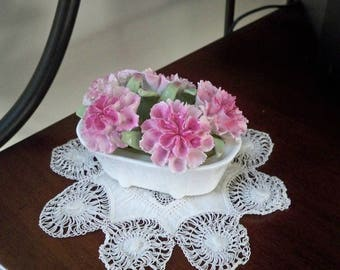 Vintage Collectible China Knick Knack August Carnation by Ansley England