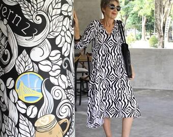 Kadek Dress, Midi, S-2X, Bali Batik, Rayon