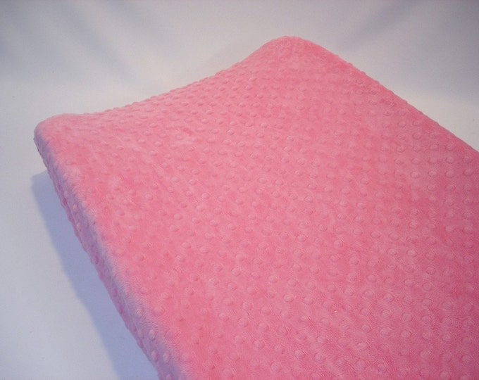Pink Changing Pad Cover Carnation