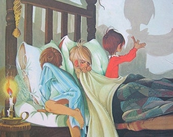 Boys Room Decor Brothers Wall Art Book Page Art Vintage Illustration 3 Brothers Nursery Wall Art