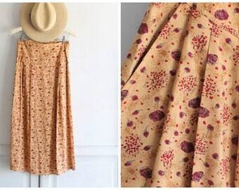 SALE 80s vintage KRIZIA floral midi skirt | Moods by Krizia