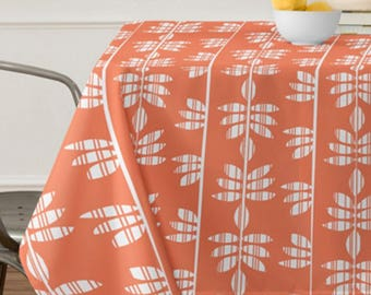 Tablecloth // Table Linens // Dining Room // Abadi Coral Design // Nature Inspired // Table Decoration // Modern Home Decor // Retro Style