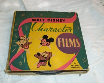1930s Authentic Vintage Walt Disney Characters Reel to Reel Tape Original Box