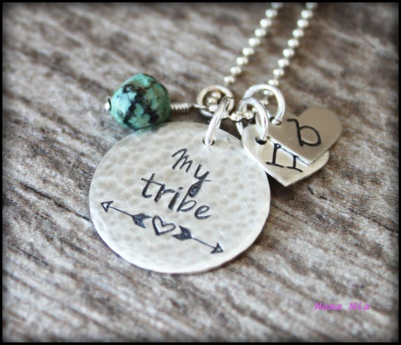 my tribe necklace my tribe jewelry hand stamped my tribe
