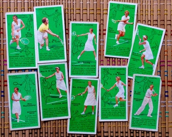 Tennis Anyone?  Charming 1936 Cigarette Card Lot