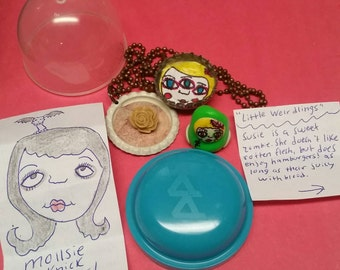 Bubble pack, magnet,necklace, weirdling