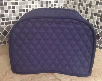Small Navy Blue 2 Slice Toaster Cover Reversible M.T.O.