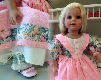 18 Inch Doll Clothes / Doll Dress  And Doll Pantaloons / Doll Clothes / Doll Clothing / Doll Accessories / Fits American Girl Doll - 1091