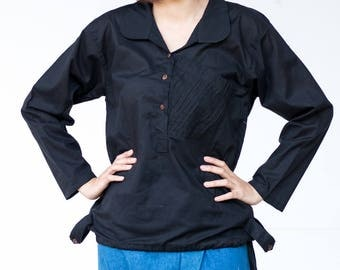 SALE 15% OFF --B180--- Nice and simple (cotton blouse)