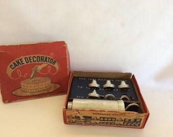 Vintage Cake Decorator Set in Original Box