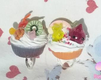 Kawaii Fairy Kei Cupcake Rings