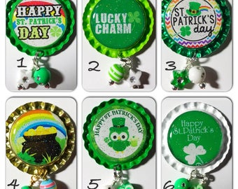 TOP Only**St Patrick's Day Badge Reels Tops  *PICK one*