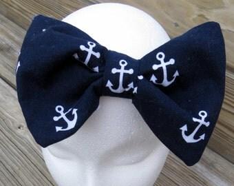 Anchor Bow/ Nautical Bow/ Newborn Headband/ Baby Headband Bow/ Anchors/ Nautical/ Headbands/ Baby Bows/ Baby Turban Bows/ Fabric Bows/ Kids