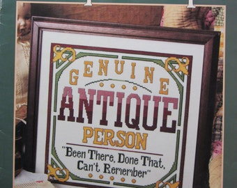 Genuine Antique People/Counted Cross Stitch Patterns by Leisure Arts/1997/Wall Hangings/5 Designs/Needlecraft