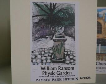 Hitchin Prints Card: William Ransom Physic Garden