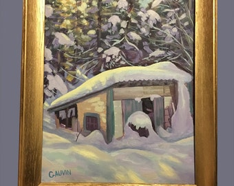 Snow Covered Shed