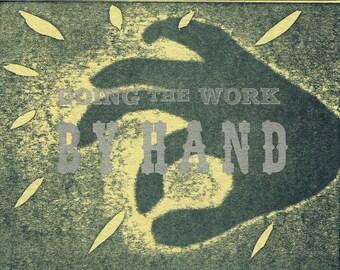 Single Letterpress Postcard Work by Hand