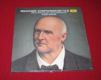 Bruckner symphonies 7 & 8 recordings, sealed
